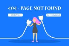gevonden niet van de 404 foutenpagina banner voor website vector illustratie