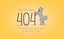gevonden niet van de 404 foutenpagina beeldverhaalontwerp Royalty-vrije Stock Afbeeldingen