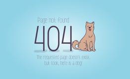 gevonden niet van de 404 foutenpagina beeldverhaalontwerp Vector Illustratie