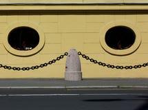 Gevormd als een buitendetail van de gezichtsgipspleister stock afbeelding