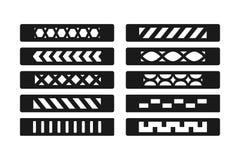 Gevormd armbandmalplaatje Malplaatje voor hand - gemaakte leerarmband De toebehoren van manierjuwelen Juwelen het maken stock illustratie