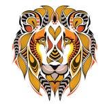 Gevormd gekleurd hoofd van een leeuw vector illustratie
