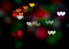 Gevormd hart bokeh Royalty-vrije Stock Afbeeldingen
