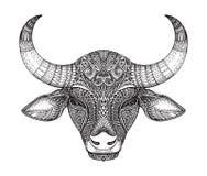 Gevormd hoofd van de stier royalty-vrije illustratie