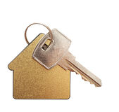 Gevormd huis keychain Stock Foto's