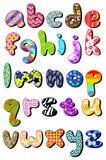 Gevormd kleine lettersalfabet Royalty-vrije Stock Afbeelding