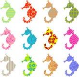 Gevormd seahorse stock illustratie