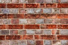 Gevormde bakstenen muur Stock Fotografie