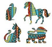 Gevormde Dieren stock illustratie