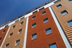 Gevormde gebouwen stock afbeelding