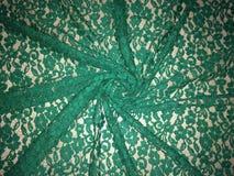 Gevormde groene kantstof Stock Afbeelding