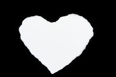 Gevormde het hart scheurt document wit Royalty-vrije Stock Fotografie