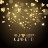Gevormde het hart schittert Confettien Stock Foto's