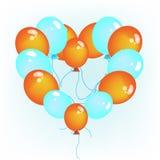 Gevormde het hart van Baloons Stock Fotografie