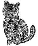 Gevormde kat stock illustratie