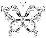 Gevormde vlinder Royalty-vrije Stock Foto's