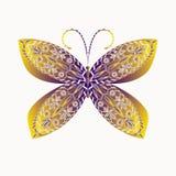 Gevormde vlinder Stock Afbeelding