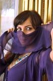 Gevormde vrouw in harem Royalty-vrije Stock Foto