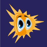 Gevormde zon Stock Illustratie