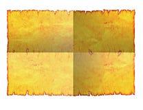 Gevouwen blad van perkamentdocument. Spatie. stock afbeeldingen