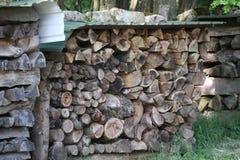 Gevouwen brandhout voor oven stock fotografie
