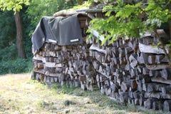 Gevouwen brandhout voor oven stock afbeelding