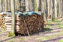 Gevouwen brandhout voor oven royalty-vrije stock foto