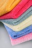 Gevouwen de handdoeken van Terry Stock Afbeeldingen