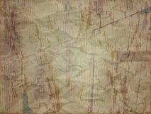 Gevouwen document met vlekeffect in donkere schaduw Stock Fotografie