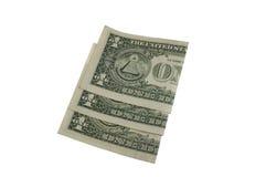 Gevouwen dollarrekeningen Royalty-vrije Stock Afbeelding
