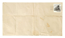 Gevouwen Envelop Royalty-vrije Stock Foto's