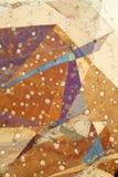 Gevouwen folie in gepolariseerd licht Stock Afbeelding