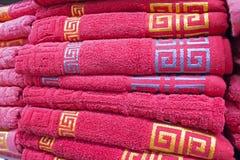 Gevouwen handdoeken Royalty-vrije Stock Afbeelding