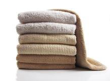 Gevouwen handdoeken Royalty-vrije Stock Afbeeldingen