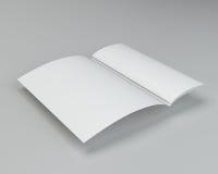 Gevouwen het bladtextuur van de Witboekpagina het 3d teruggeven Royalty-vrije Stock Afbeeldingen