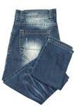 Gevouwen Jeans Stock Foto