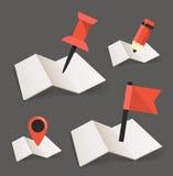 Gevouwen kaarten vector illustratie
