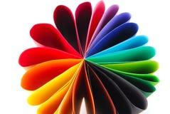 Gevouwen kleuren kleurrijk document Royalty-vrije Stock Afbeeldingen