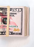 Gevouwen Pakje het Contante geldofferte van het Vijftig Dollar Rekeningen Amerikaanse Geld royalty-vrije stock foto