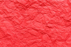 Gevouwen rode document textuurachtergrond Stock Fotografie
