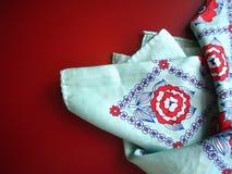 Gevouwen sjaal Stock Foto