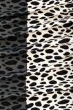 Gevouwen textiel met koepatroon Stock Afbeeldingen