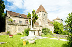Gevrey-Chambertin Castle Stock Photos