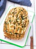Gevuld brood met kaas stock fotografie