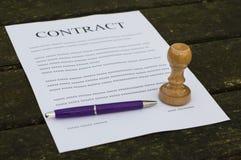 Gevuld document contract royalty-vrije stock afbeelding