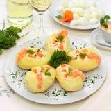 Gevulde aardappels stock fotografie