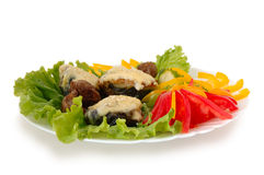 Gevulde aubergine. Stock Fotografie