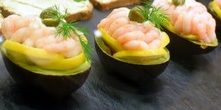 Gevulde avocado's Royalty-vrije Stock Foto's