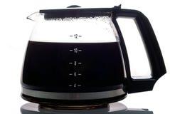 Gevulde de pot van de koffie Stock Foto