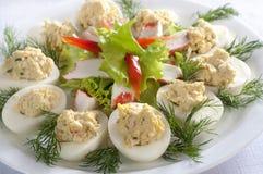 Gevulde eieren Royalty-vrije Stock Foto